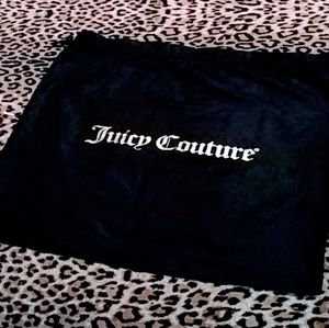 Juicy couture Black and white drawstring dust bag